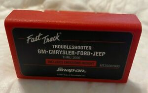 Snap On 2000 Fast Track Troubleshooter Cartridge Mt25002900