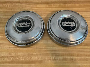 68 74 Ford Dog Dish Hubcap 9 3 4 Center Caps Fairlane Galaxie Used Cond Oem