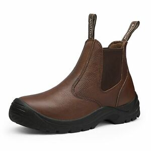 Nortiv 8 Men s Waterproof Steel Toe Work Boots Safety Pu Construction Boots
