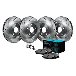 For Audi 80 Quattro 88 92 Brake Kit Eline Series Drilled Slotted Front Rear