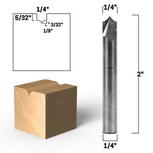 1 4 Radius Point Round Over Groove Router Bit 1 4 Shank Yonico 14061 sc