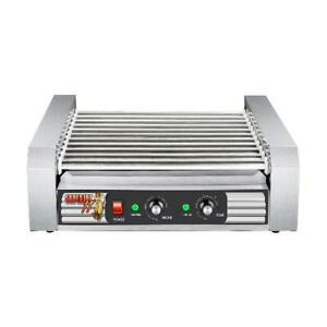 Hot Dog Roller Grill Commercial Grilling Machine Party Holiday Cooker Bun Warmer
