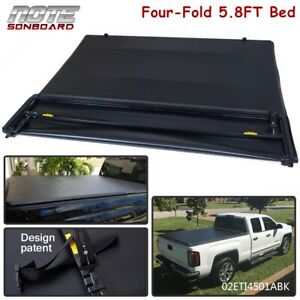 For 14 18 Chevy Silverado 1500 Lt Pickup 5 8ft Short Bed Four Fold Tonneau Cover