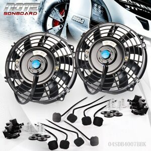 Universal 2 7 Slim Push Pull Electric Radiator Cooling Fan Mount Kit 12v 80w