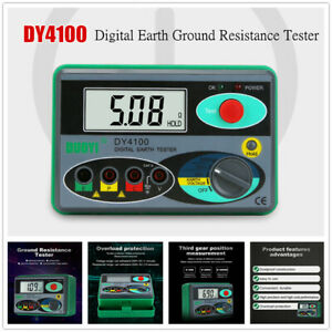Dy4100 Digital Earth Ground Resistance Tester Meter Earth Tester Multimeter 0 01
