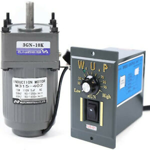 Ac Reversible Gear Motor Electric Variable Speed Reduction Controller 1 10 15w