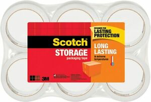 3m Scotch Moving Storage Packing Tape 4 Rolls Heavy Duty Shipping Packaging