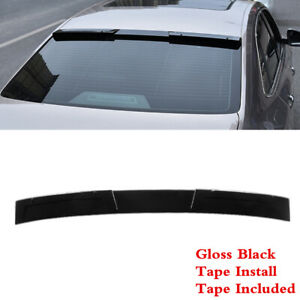 Fit For Vw Jetta Sedan 2019 2021 Rear Roof Window Spoiler Roofline Wing Black