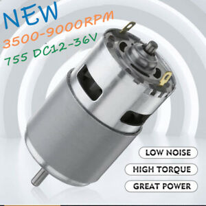 High Torque And Low Noise 775 Dc 12v 36v 3500 9000rpm Motor Ball Bearing X8r8