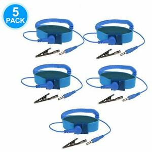 5 X Anti static Wristband Strap Esd Grounding Wrist Strap Prevents Static Build