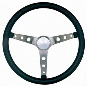 Grant Steering Wheel Classic Nostalgia 15 3 Spoke Black Foam Stainless Brushed