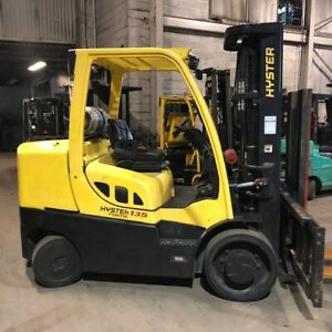 2012 Hyster S135ft 13 500lbs Used Forklift W triple Mast Sideshift Lp Gas
