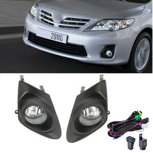 For 2011 2013 Toyota Corolla Clear Bumper Fog Lights Lamps Cover Switch Wiring