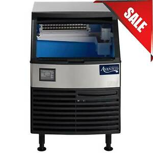 26 80 Lb Stainless Steel Air Cooled Undercounter Full Cube Ice Machine W Bin