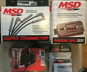 Msd Digital 6al 6425 Ignition Control Box With Rev Limiter Wires And Coil