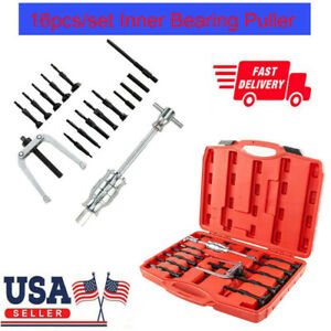 16pcs Set Inner Bearing Blind Hole Remover Extractor Puller Pilot Bushes Housing