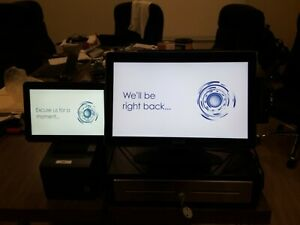 Toast Pos Point Of Sale System Bundle W all 3 Monitor Printer cash Resgester