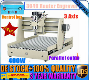 3 Axis 3040 Cnc Engraver Milling Drilling Router Engraving Machine 400w Motor