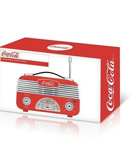 Coca Cola Vintage Radio Am/fm 1950's Radio
