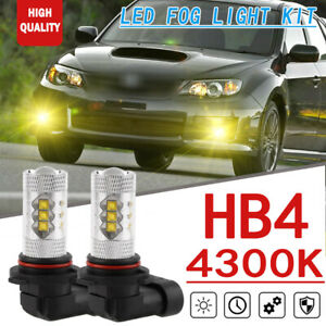 2pcs Yellow Led Car Fog Light For Subaru Impreza Wrx Sti Forester Legacy Outback
