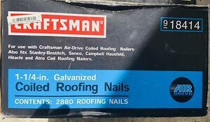 Craftsman 18414 1 1 4 2880 Galvanized Coiled Roofing Nails Air Drive Nailers