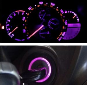 Pink Purple Cluster And Key Ring Led Bulb Combo Kit For Lexus Is300 2001 2005