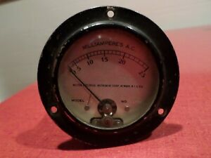 Vintage Weston Electrical Instrument Corp Milliampere A c Meter 0 25 Steampunk