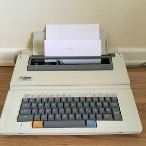 Canon Typewritter Es13 Electric Lightweight Portable With Cover Works