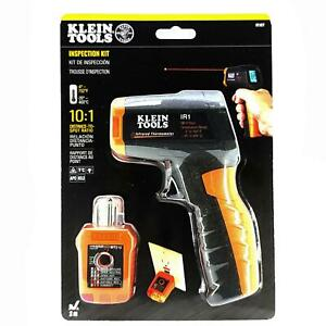 Klein Tools Ir1 Infrared Thermometer With Gfci Receptacle Tester Laser Target