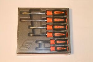 Snap On Tools Screwdriver Set Orange Soft Grip Combination 6 Pc Set New Sgdx60bo