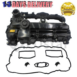 Engine Valve Cover W Gasket 11127588412 For 12 18 Bmw 320i X4 X3 X5 X1 Z4 2 0l