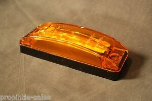 Grote 47163 Led Amber Turtle Back Black Base Supernova Turtleback