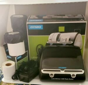 Dymo Labelwriter 450 Twin Turbo Label Thermal Printer Includes 8 Rolls