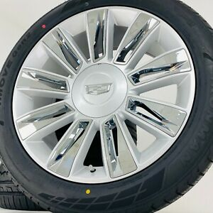 22 Cadillac Escalade Platinum Wheels Rims Tires Fits Factory 2020 2019 2018 New