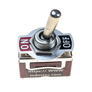Industec Medium Duty 15 Amp Spst 2 Screw Toggle Switch Maintained 2 Pos 12v