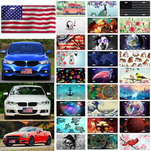 Metal Aluminum Design License Plate Tag Cover Accessory For Car Truck Vehicle
