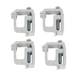 4 X Truck Cap Topper Camper Shell Mounting Clamps Heavy Duty Aluminum
