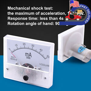 Dc 0 50ma 1a 10a 15v 24v Analog Amp Volt Panel Meter Current Voltage Ammeter