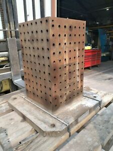Tombstone Cnc Tooling Block Fixture 25x25 600mm Pallet Mount Used
