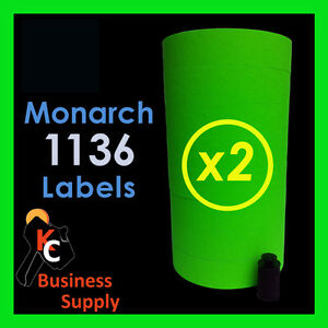 28 000 Labels For The Monarch 1136 2 Sleeves Green