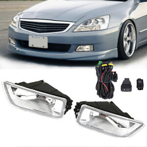 For 03 07 Honda Accord 04 08 Acura Tl Sedan Clear Fog Light Driving Lamps Switch