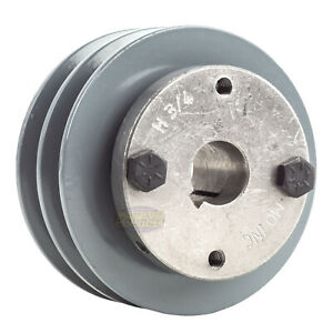 Cast Iron 3 5 2 Groove Dual Belt A Section 4l Pulley With 3 4 Sheave Bushing