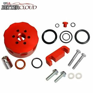 Red Cat Fuel Filter Adapter Spacer Bleeder Seal Kit Fit 01 06 Chevy 6 6l