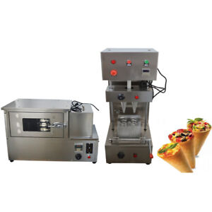 110v Commercial Pizza Cone Forming Machine And Automatic Rotating Oven 1800w