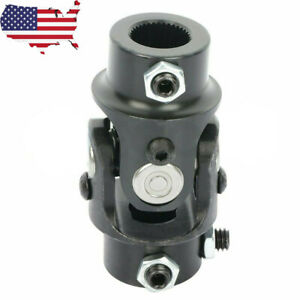 New 3 4 36 Spline X 3 4 Dd Universal Steering Black Single U Joint Shaft Usa