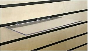 Clear Slatwall Shelves 6 Inch X 12 Inch Set Of 8 Retail Display Or Home Use