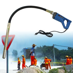 Hand Held Concrete Vibrator Pro Construction Tool Machine 1 2m Hose 800w 2 8 A