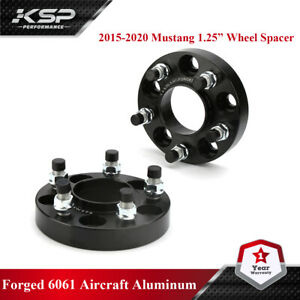 2015 2020 Ford Mustang Black Hubcentric Wheel Spacers Adapters 1 Thick 25mm