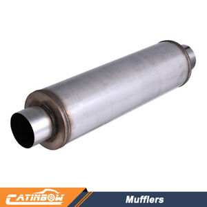 1pc 4 Stainless Steel Performance Diesel 24 Body Length Exhaust Mufflers