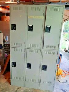 Locker 6 Compartment school gym locker cubby Metal West Atlanta